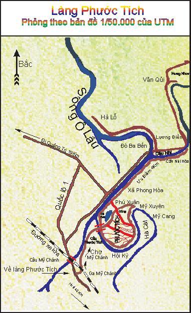 Bản đồ về Làng Phước Tích Huế
