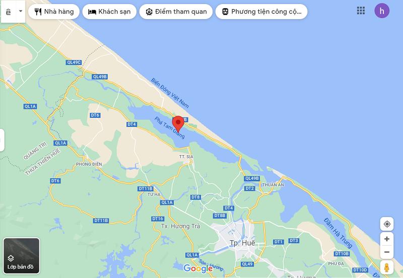 Hướng dẫn đường đi Phá Tam Giang