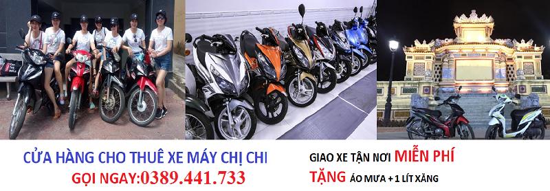 Cho thuê xe máy tại Huế